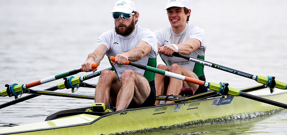 Paul O'Donovan and Fintan McCarthy at the European Rowing Championships 2021